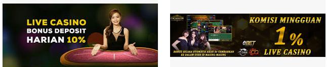 Promo live casino sbobet online